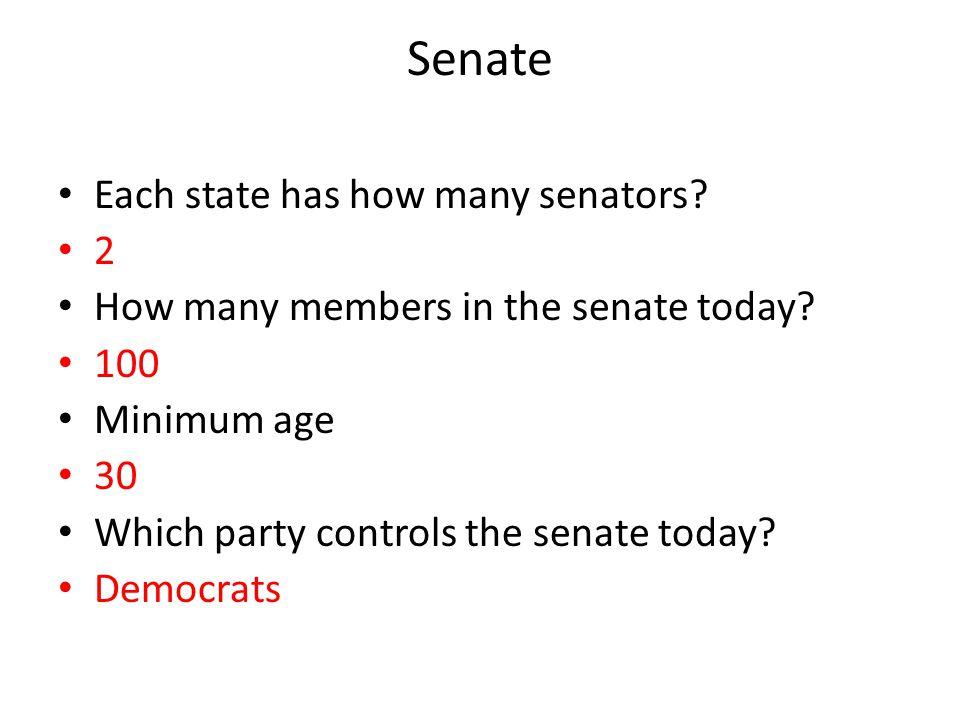 Senate Each state has how many senators 2