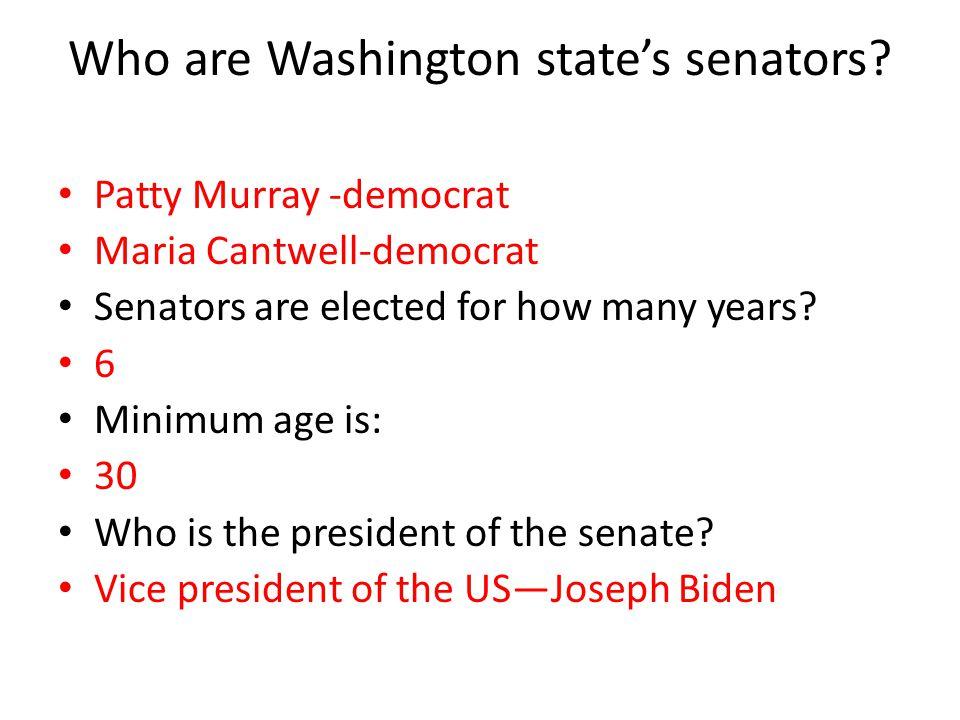 Who are Washington state's senators