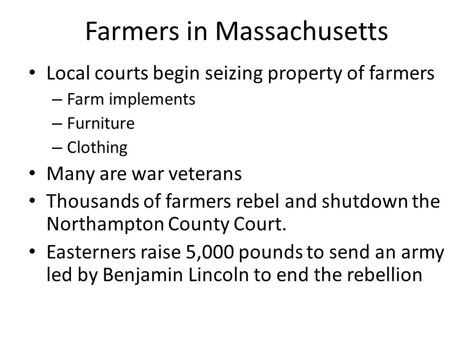Farmers in Massachusetts