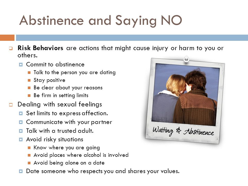 Abstinence and Saying NO