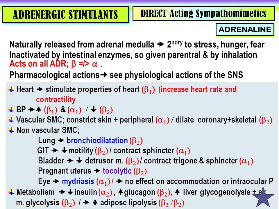 ADRENERGIC STIMULANTS