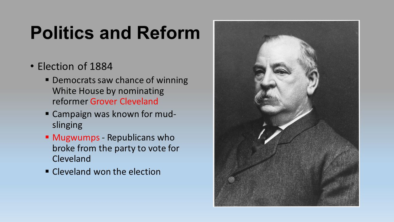 Politics and Reform Election of 1884