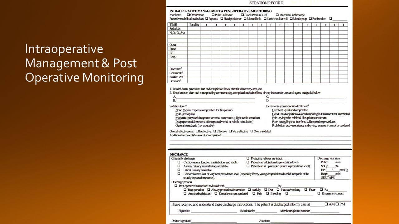Intraoperative Management & Post Operative Monitoring