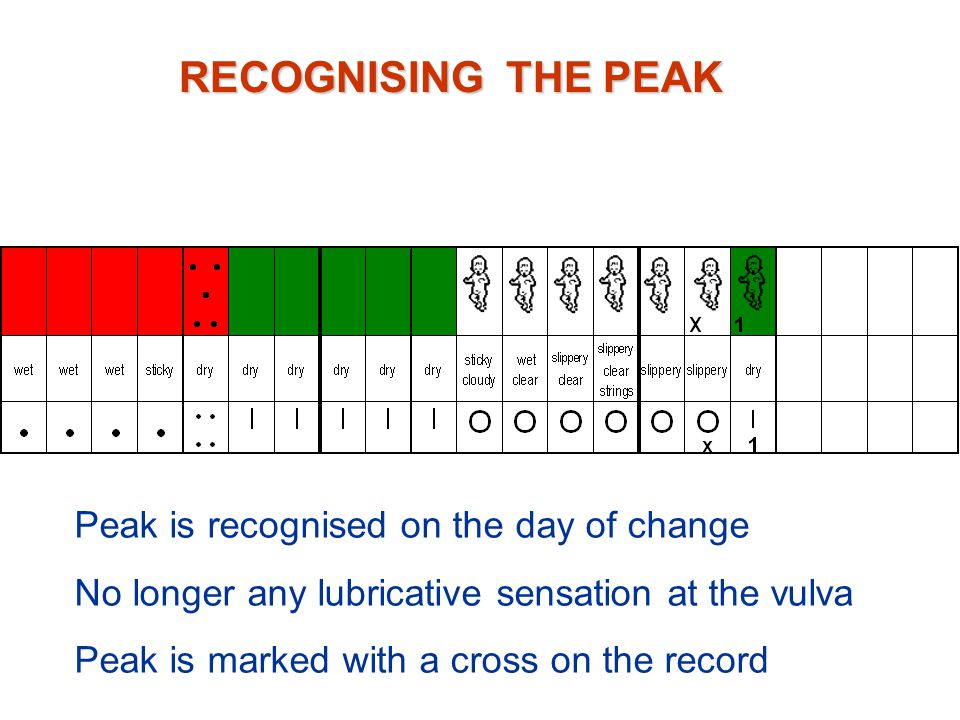RECOGNISING THE PEAK Peak is recognised on the day of change