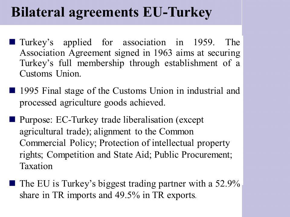 Bilateral agreements EU-Turkey