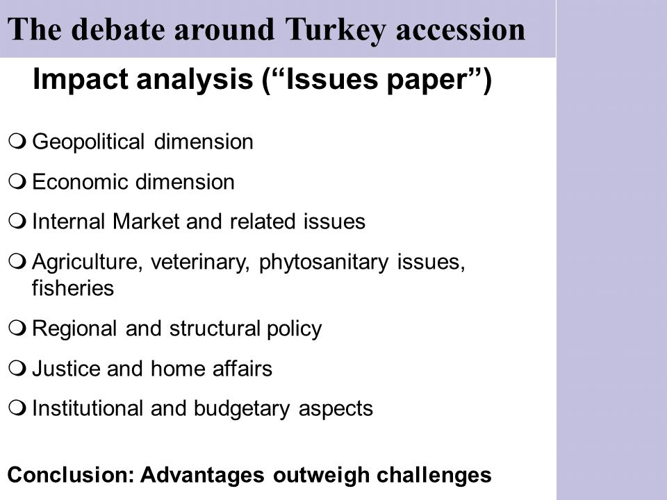 Impact analysis ( Issues paper )