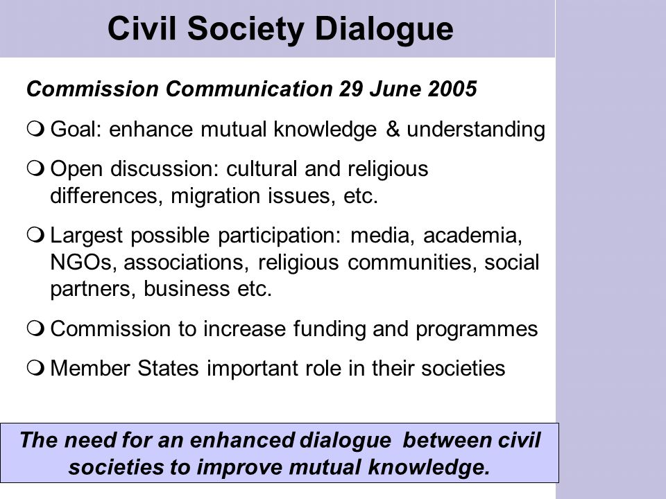 Civil Society Dialogue