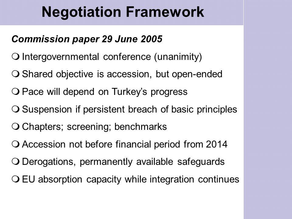 Negotiation Framework