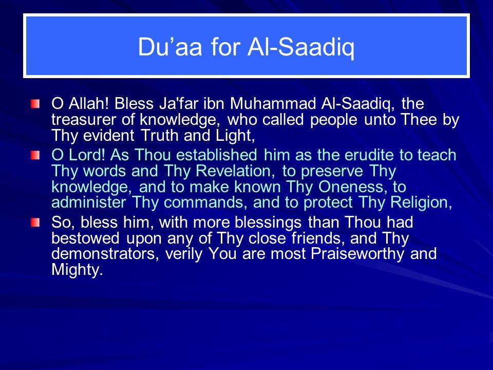 Du'aa for Al‑Saadiq