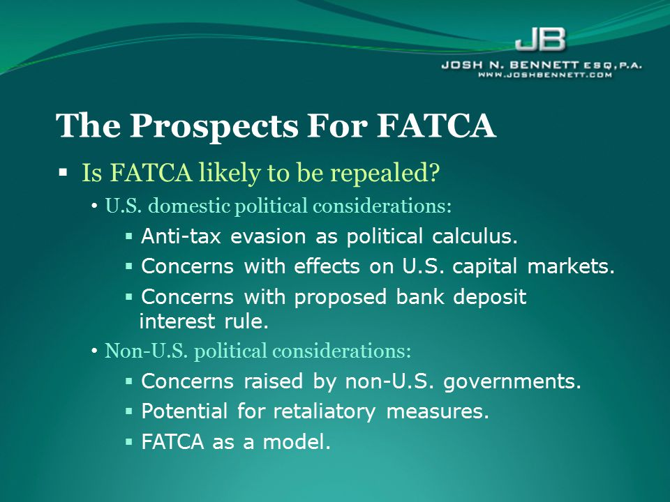 The Prospects For FATCA