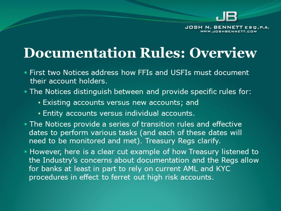 Documentation Rules: Overview