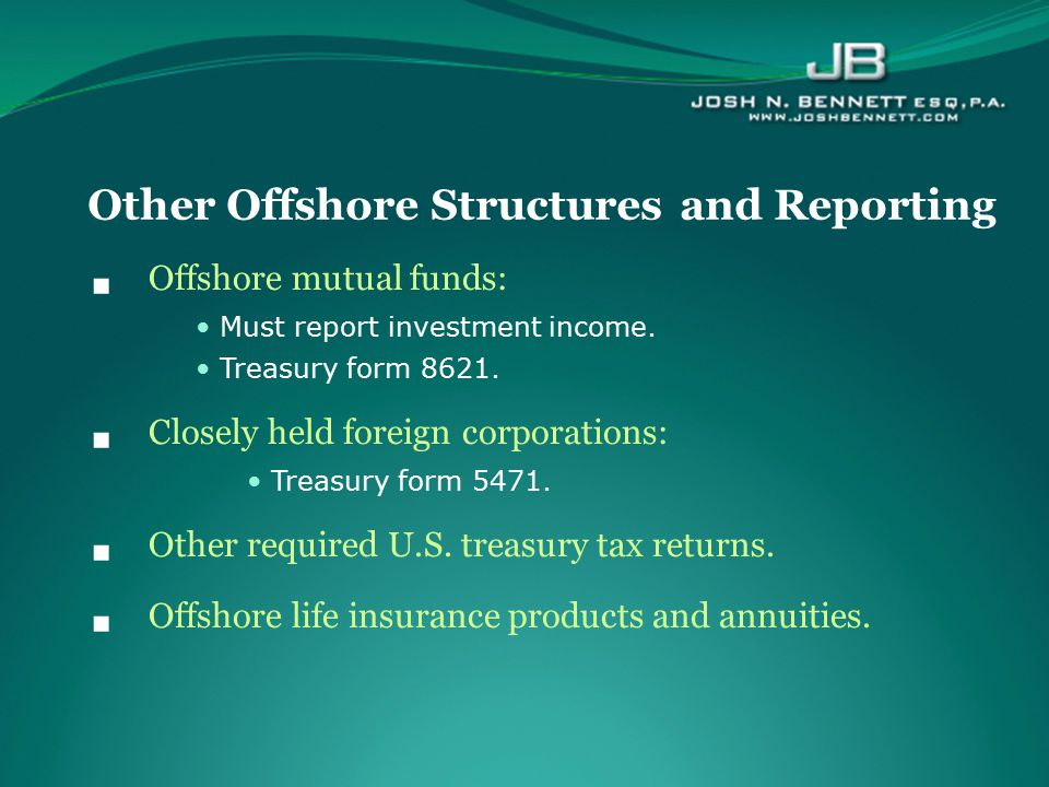 Other Offshore Structures and Reporting