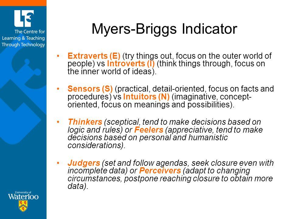 Myers-Briggs Indicator