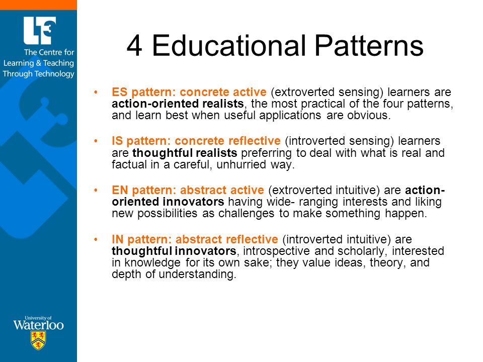 4 Educational Patterns
