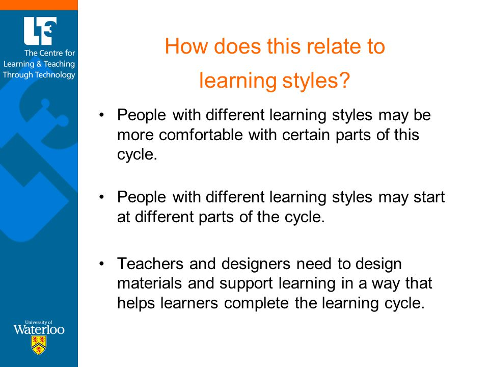 How does this relate to learning styles
