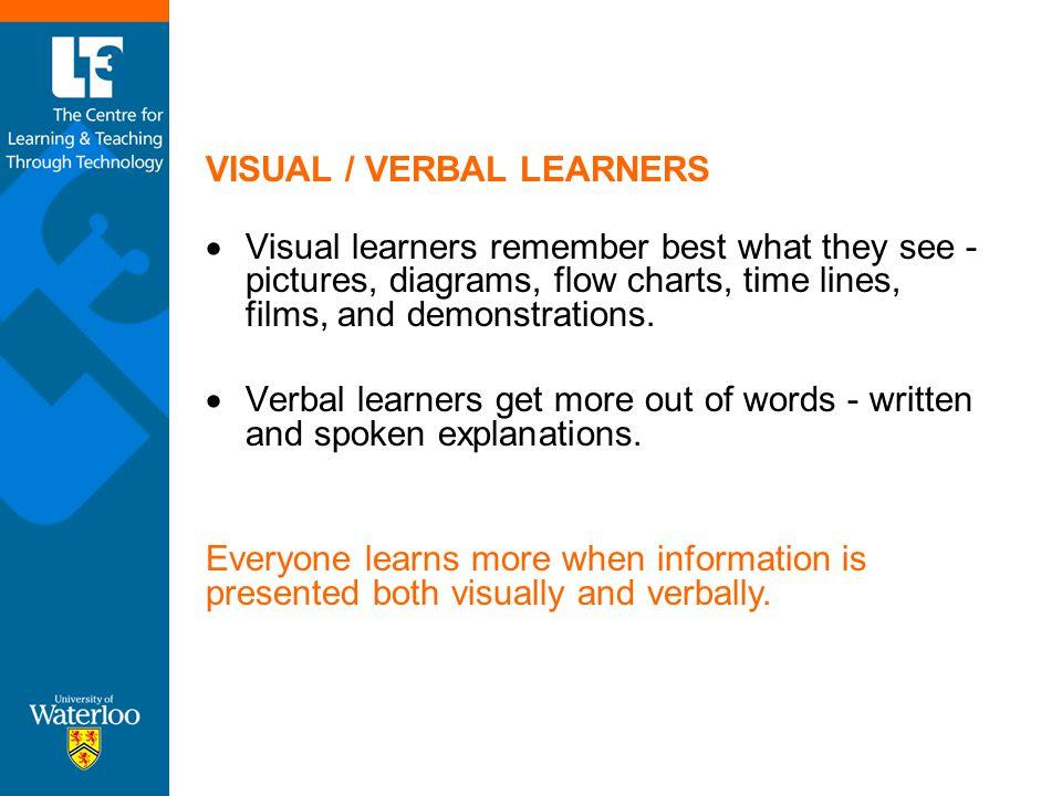 VISUAL / VERBAL LEARNERS