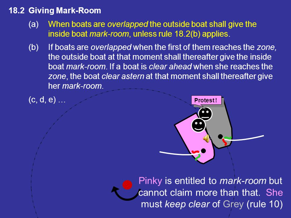 Pinky is entitled to mark-room but cannot claim more than that. She