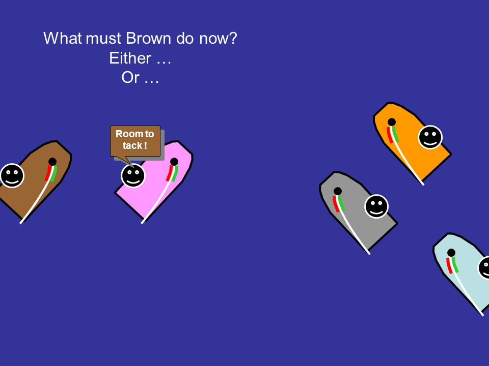 What must Brown do now Either … Or … Room to tack !