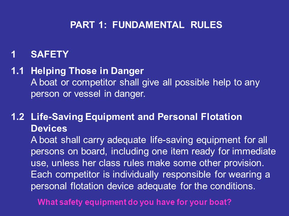 What safety equipment do you have for your boat
