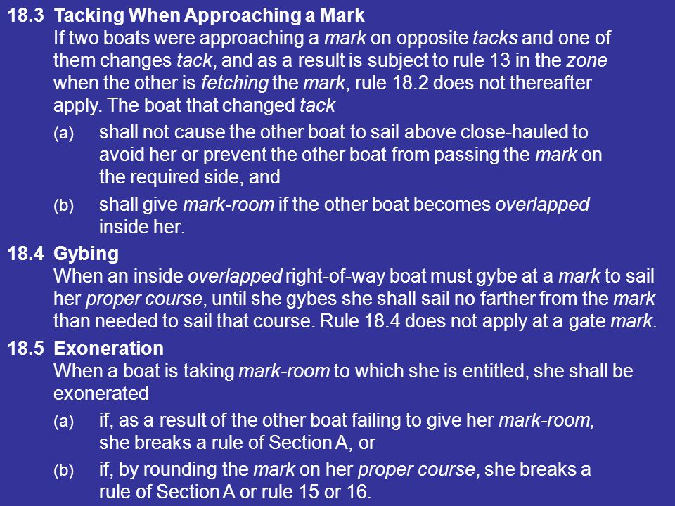 18.3 Tacking When Approaching a Mark