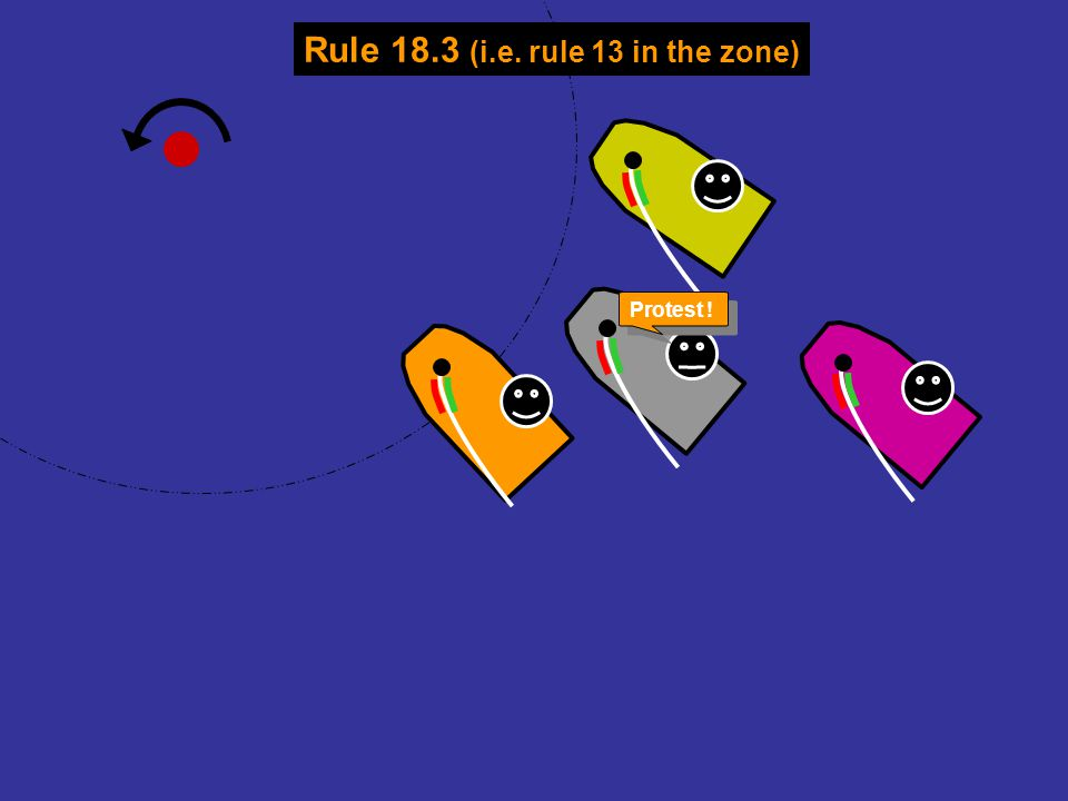 Rule 18.3 (i.e. rule 13 in the zone)