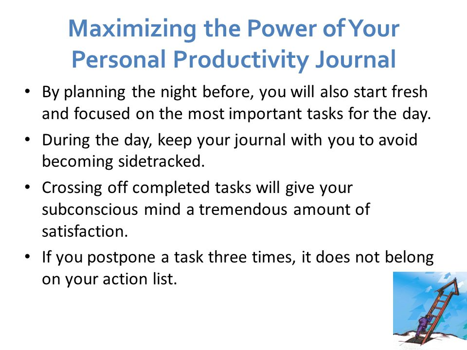 Maximizing the Power of Your Personal Productivity Journal