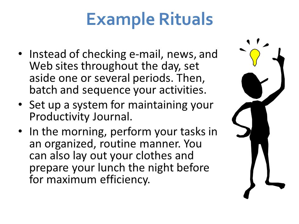 Example Rituals
