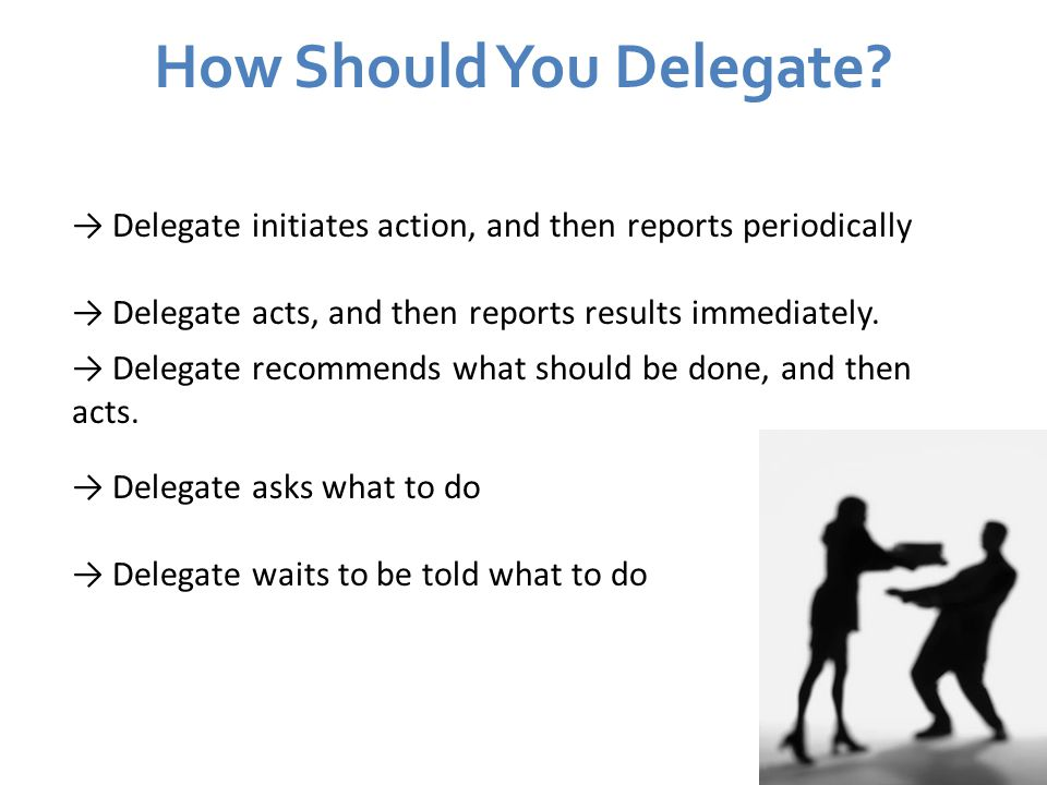 How Should You Delegate