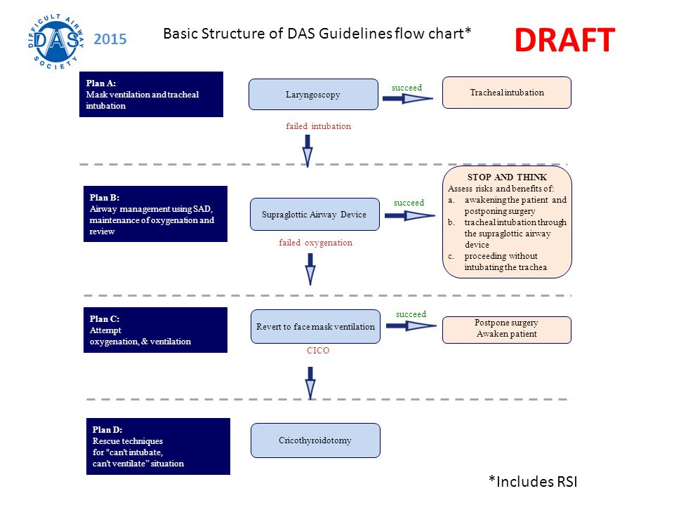 DRAFT Basic Structure of DAS Guidelines flow chart* 2015 *Includes RSI