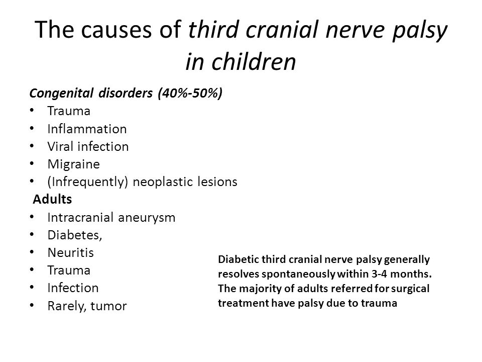 The causes of third cranial nerve palsy in children