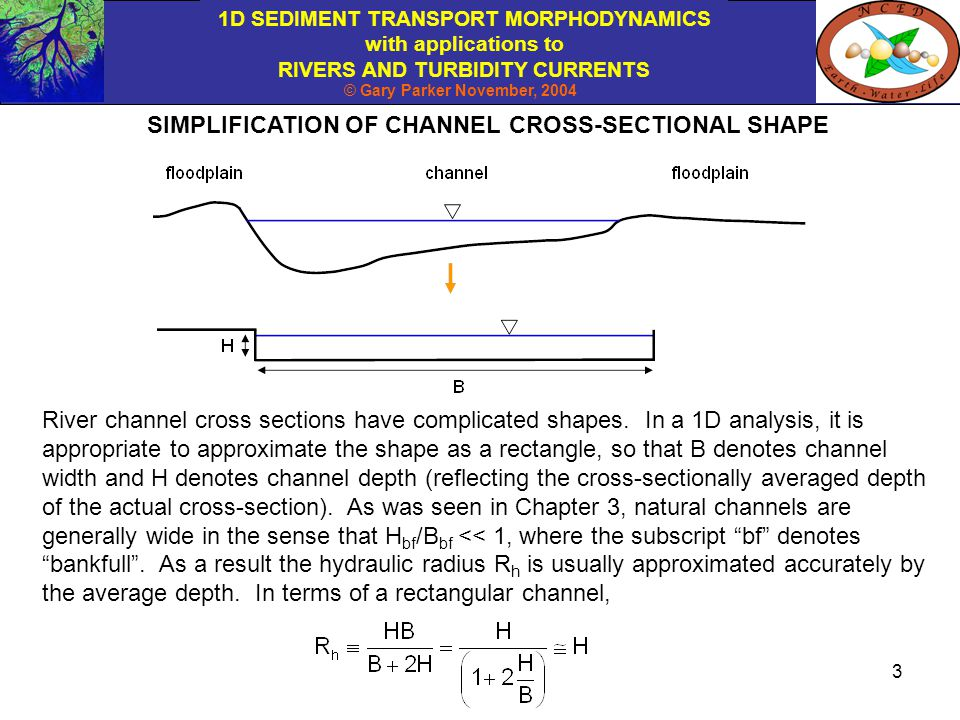 SIMPLIFICATION OF CHANNEL CROSS-SECTIONAL SHAPE