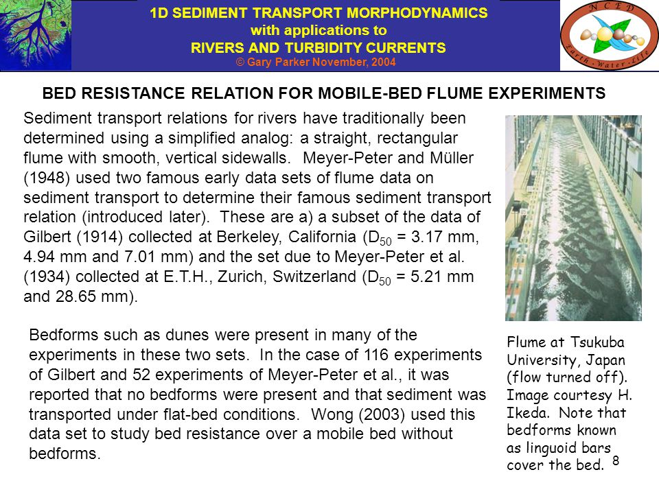 BED RESISTANCE RELATION FOR MOBILE-BED FLUME EXPERIMENTS