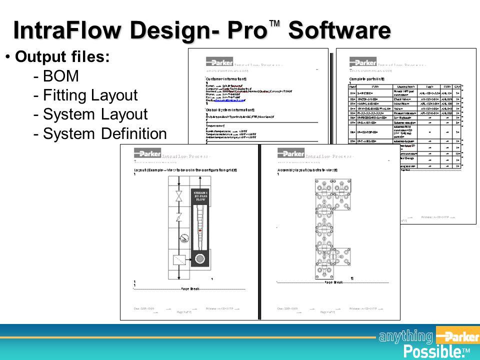 IntraFlow Design- Pro™ Software