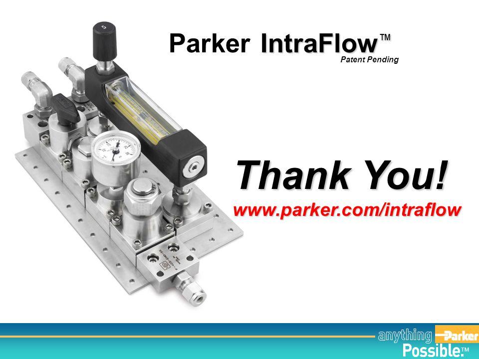 Thank You! Parker IntraFlow™ www.parker.com/intraflow