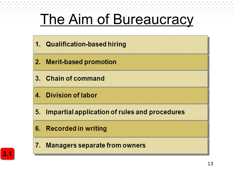 The Aim of Bureaucracy 3.1 1. Qualification-based hiring
