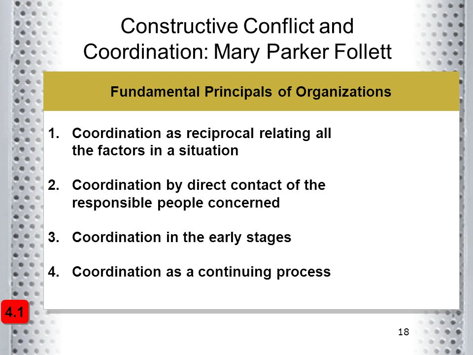 Constructive Conflict and Coordination: Mary Parker Follett
