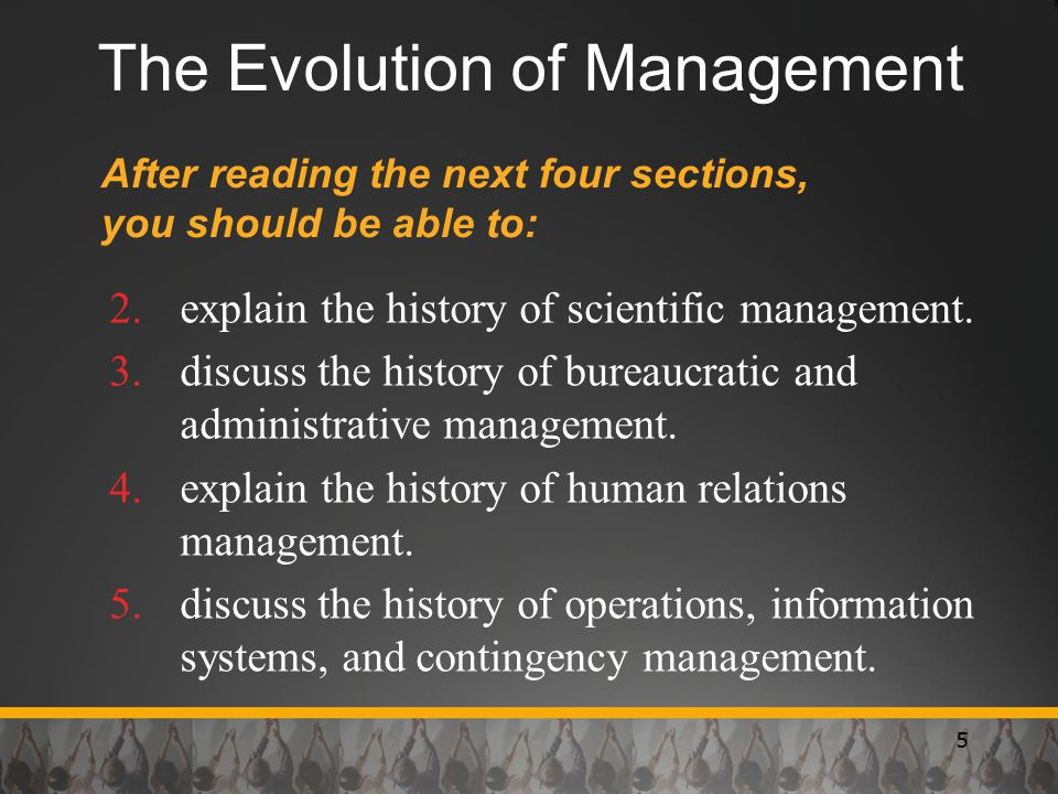 The Evolution of Management