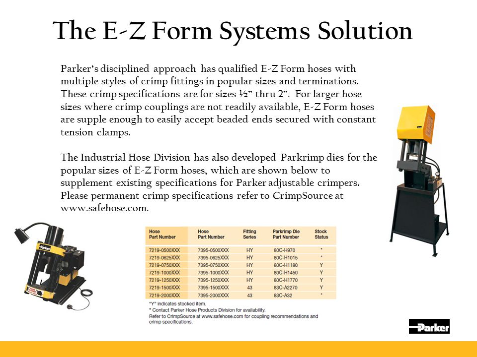 The E-Z Form Systems Solution