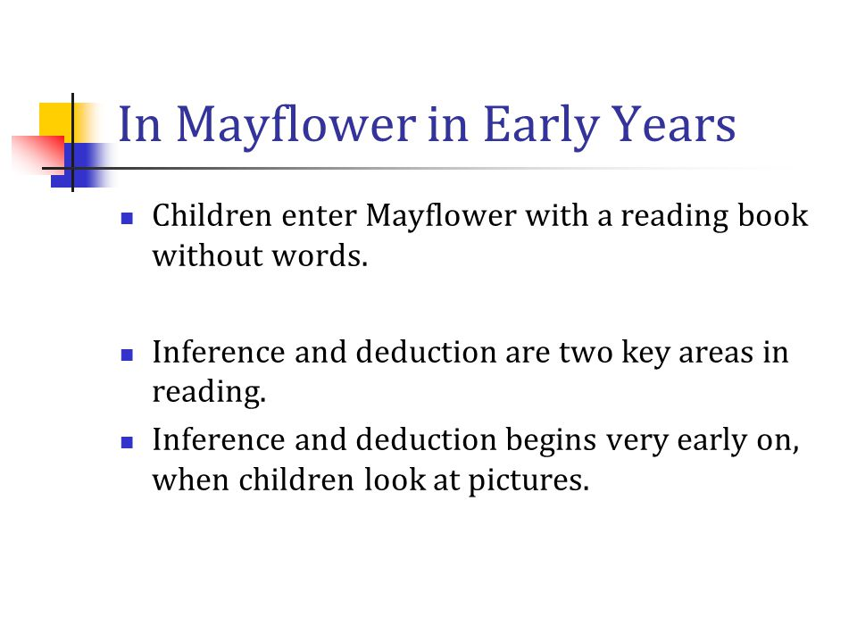 In Mayflower in Early Years