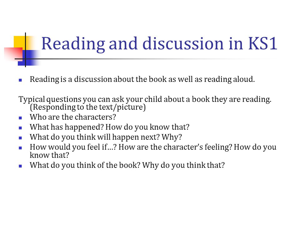Reading and discussion in KS1