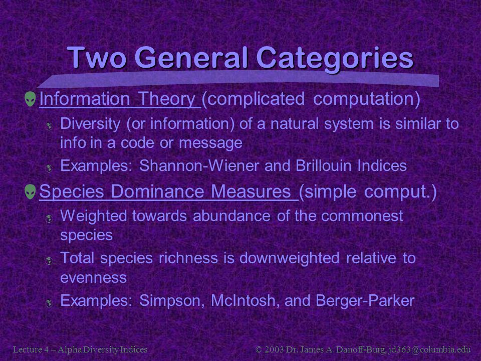 Two General Categories