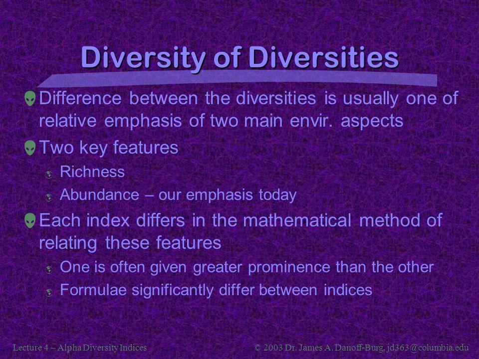 Diversity of Diversities