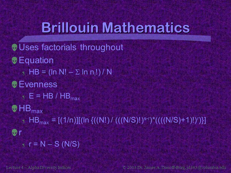 Brillouin Mathematics