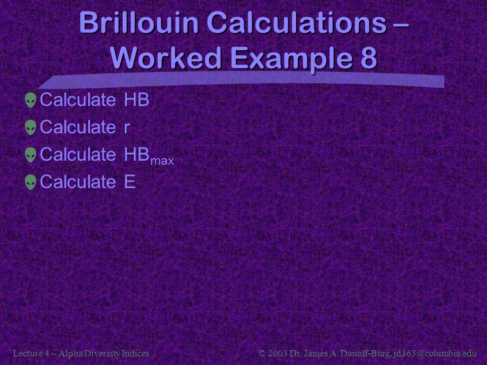 Brillouin Calculations – Worked Example 8
