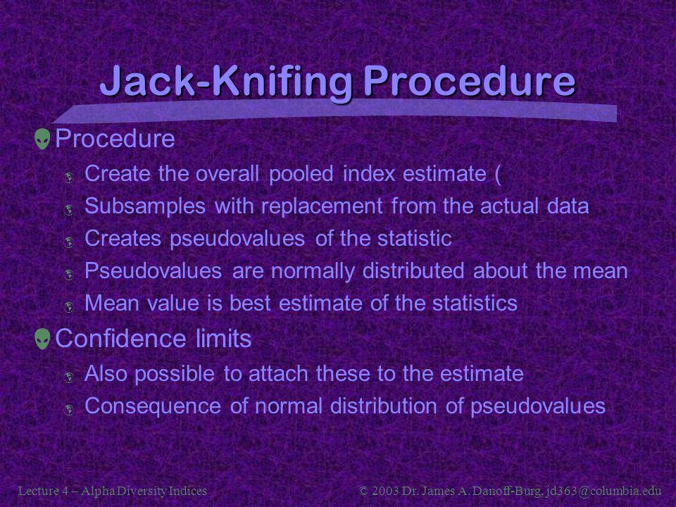 Jack-Knifing Procedure