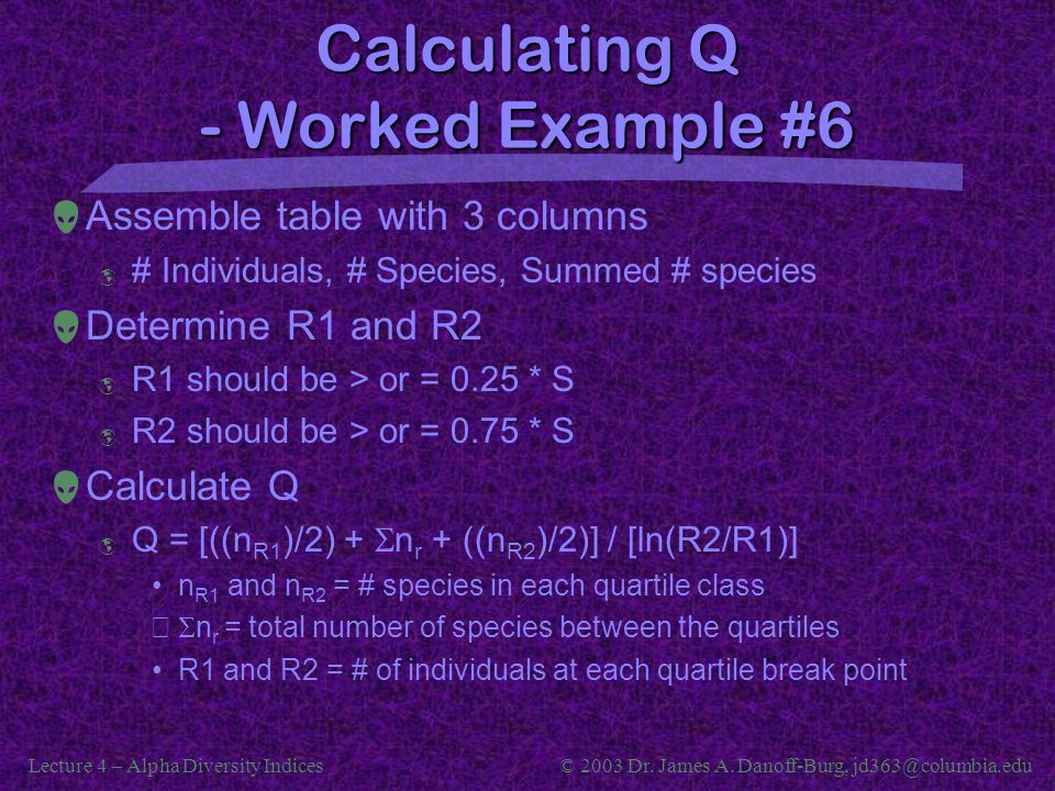 Calculating Q - Worked Example #6