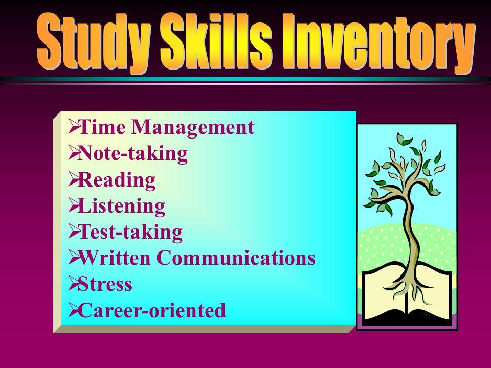 Study Skills Inventory