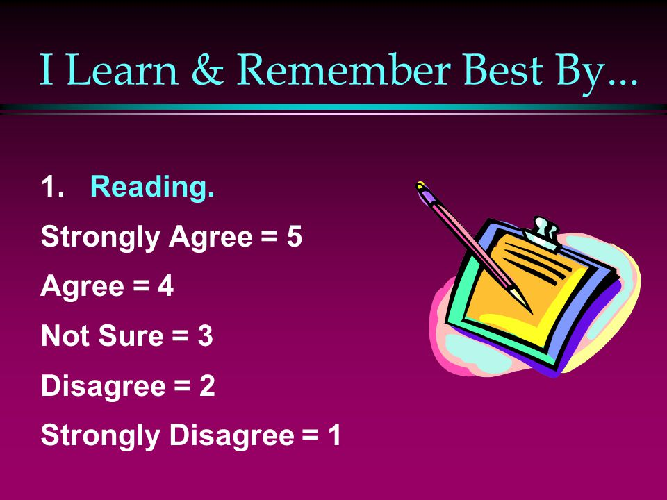 I Learn & Remember Best By...