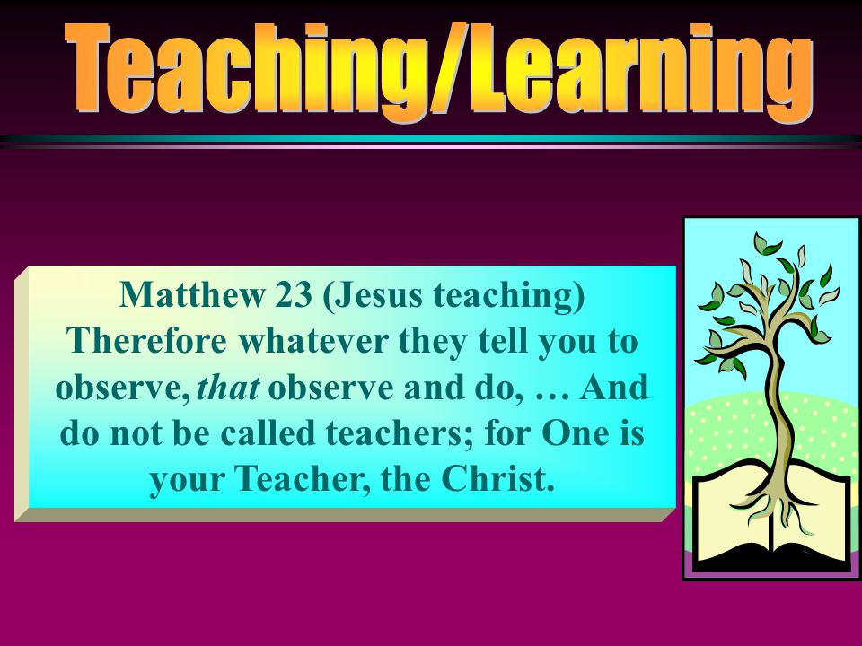 Matthew 23 (Jesus teaching)