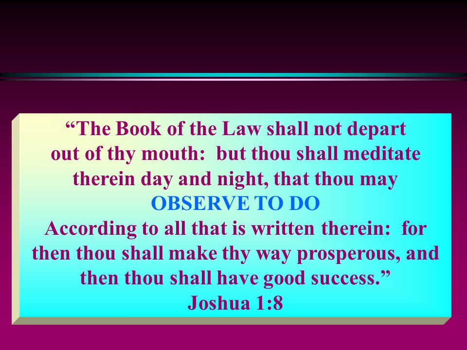 The Book of the Law shall not depart